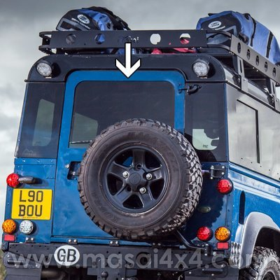Rear Door Glass - Dark Tinted & Heated for Pre 02' Land Rover Defenders 90/110 - (Bonded)