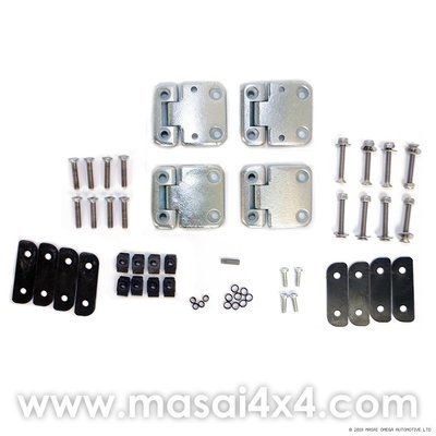 Front Door Hinge Kit (Stainless Steel Torx Head Bolts) - Land Rover Defender
