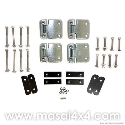 Middle Row Door Hinge Kit (Stainless Steel Torx Head Bolts) for Land Rover Defender 110