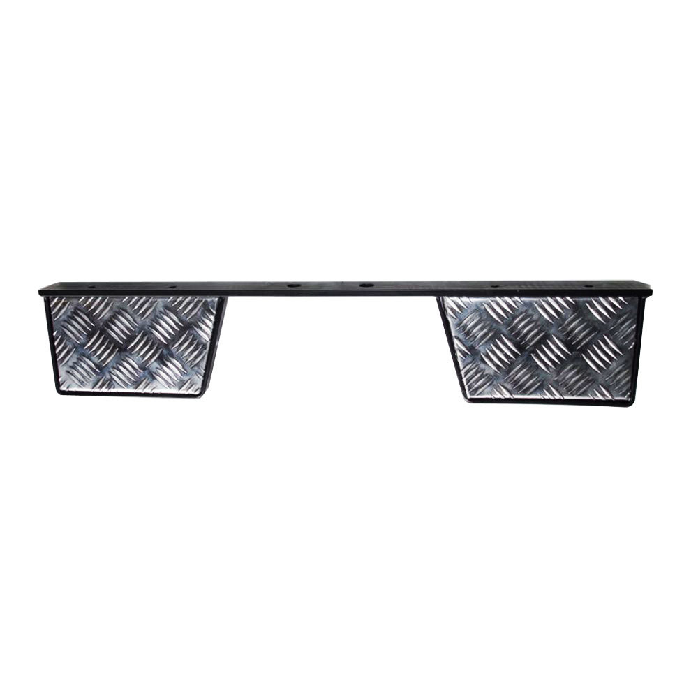 Twin Rear Step for Land Rover Defender - Chequer Plate