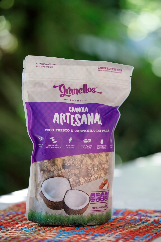 Granola Artesanal – Coco fresco e castanha do Pará – Granellos