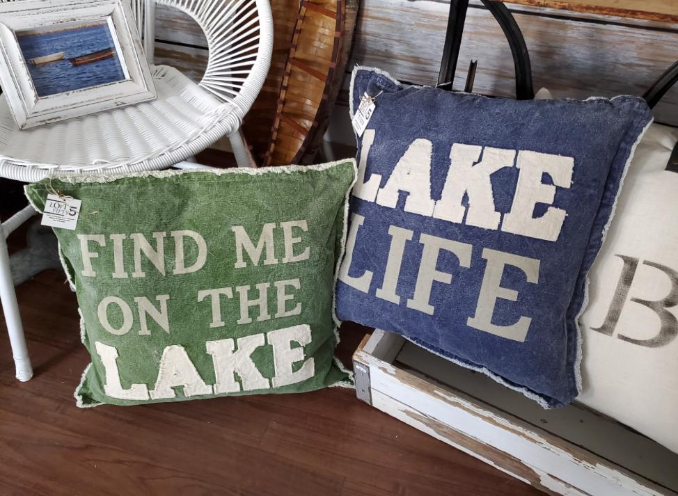 Lake Life Canvas Pillows