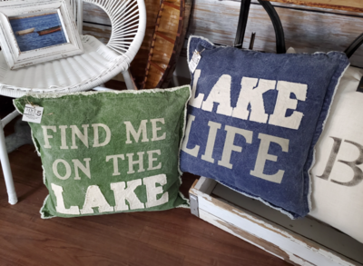 Lake Life Canvas Pillows