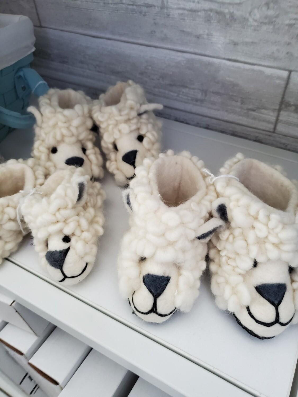 Fuzzy Lamb Baby Slippers
