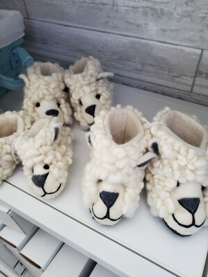 Fuzzy Lamb Baby Slippers