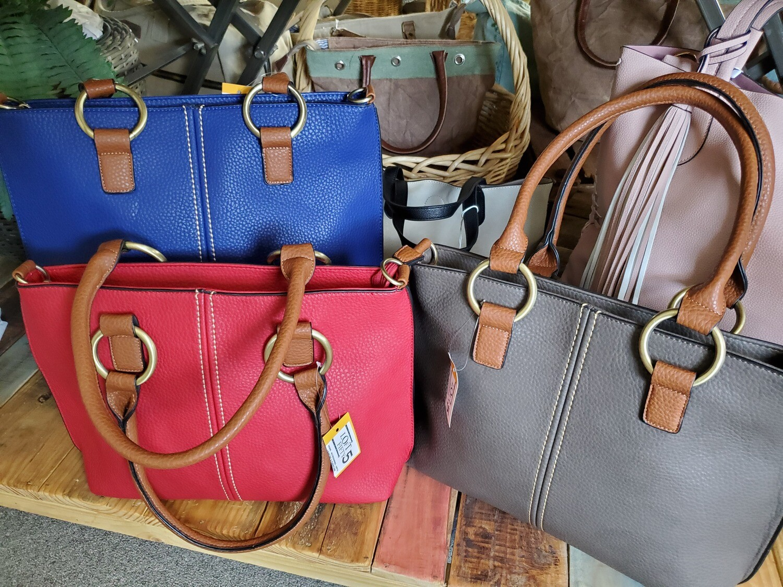 Rita Brass Ring Shoulder Handbag