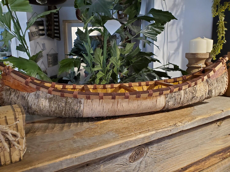 All Wood & Birch Canoe Decor