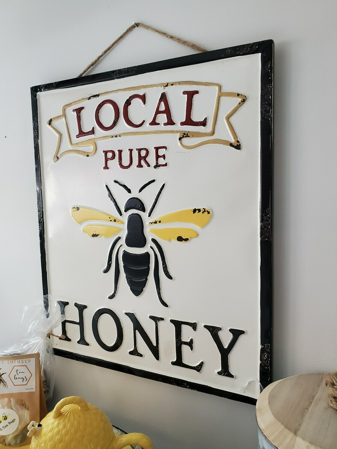 Bee Themed Metal Hanging Signs