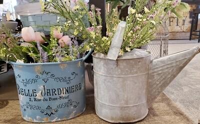 Vintage Watering Can Flower Gift
