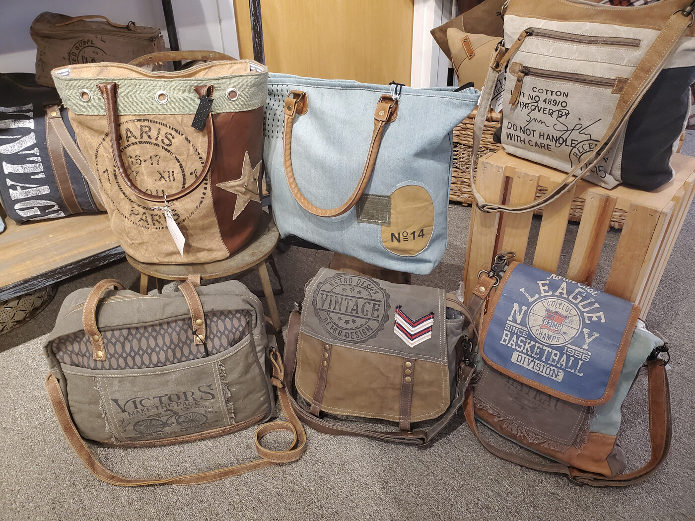 Repurposed Canvas Bags