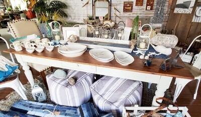 Wood Top Farmhouse Table - SALE