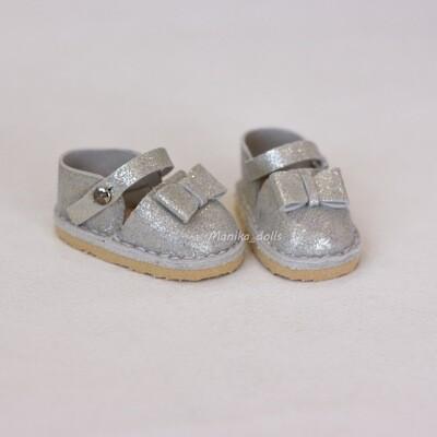 Туфли для кукол Paola Reina (серебристые)