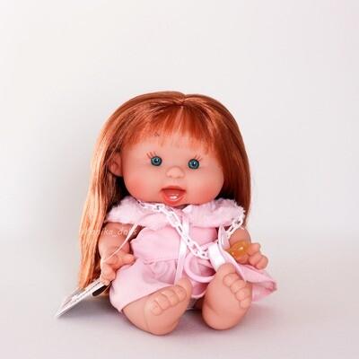 Пупс  с длинными рыжими волосами