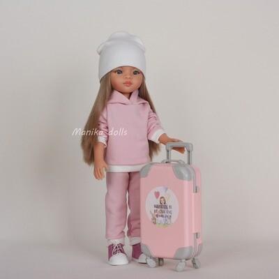 Спортивный костюм светло-розовый и ботинки