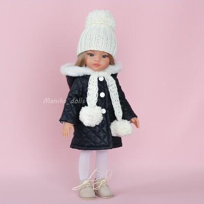 Зимний комплект (куртка, ботинки, шапка, шарф)