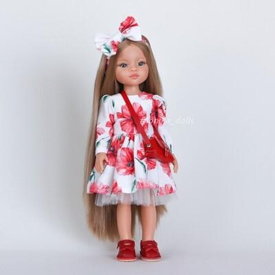 Платье, украшение для волос и туфли