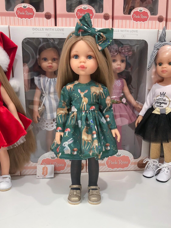 Карла в платье из премиум хлопка
