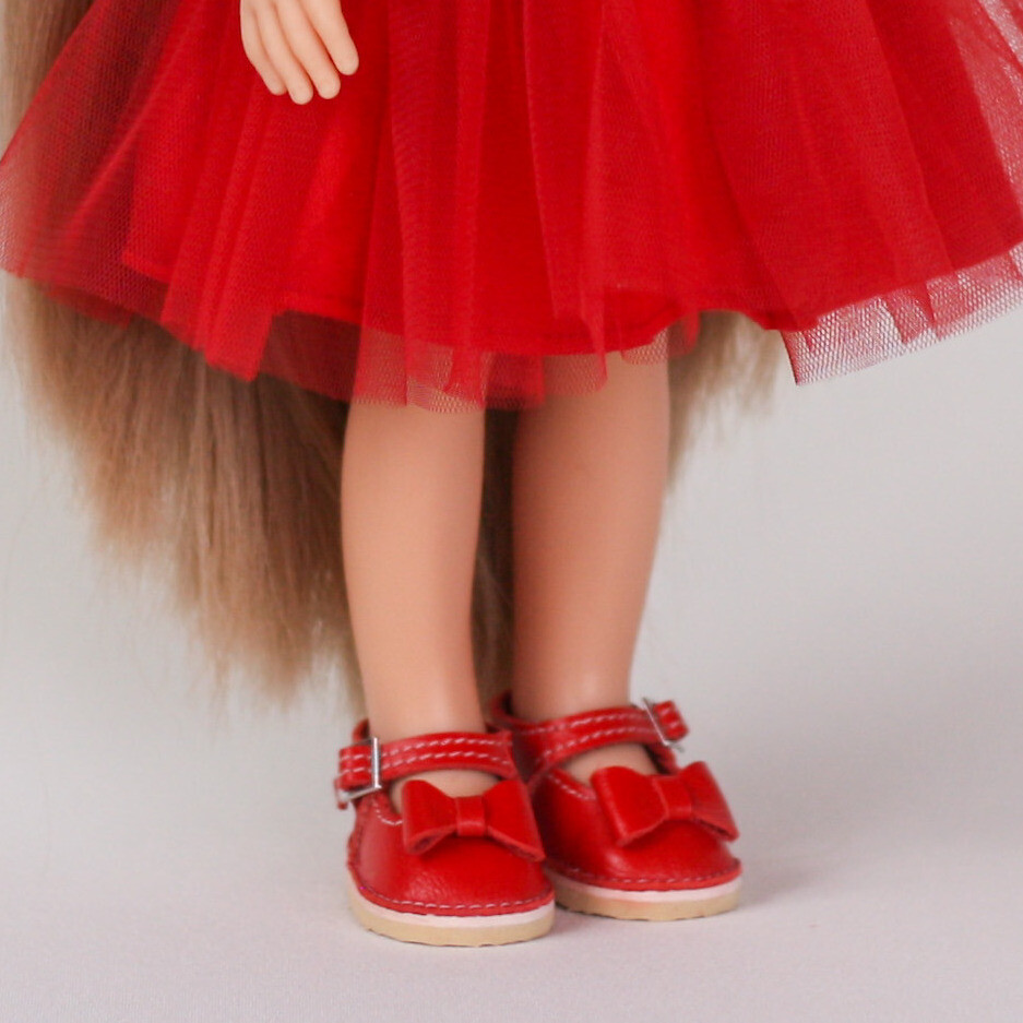 Туфли и сумка для кукол Paola Reina (красные)
