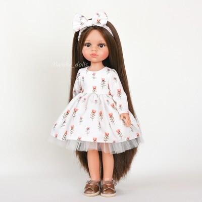 Платье, украшение для волос, обувь