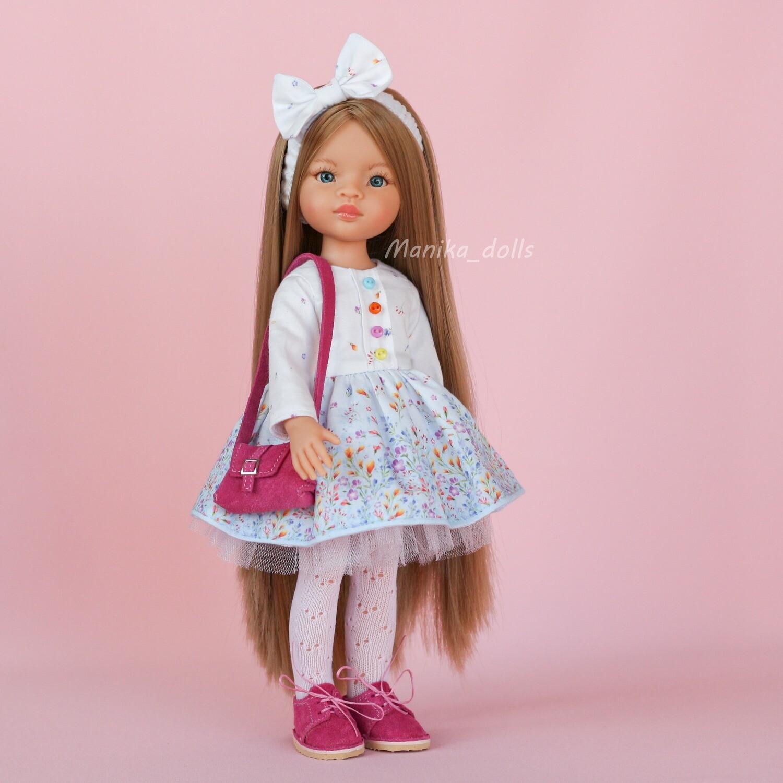 Маника-рапунцель в платье с бантиком и обуви + пижама