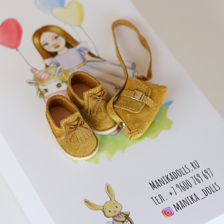 Мокасины и сумка для кукол Paola Reina