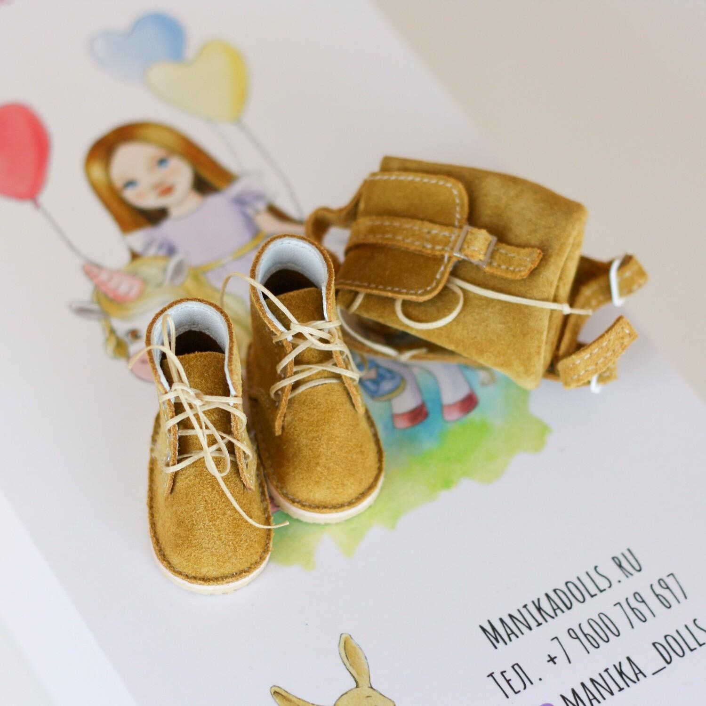 Ботинки и рюкзак для кукол Paola Reina (красные)