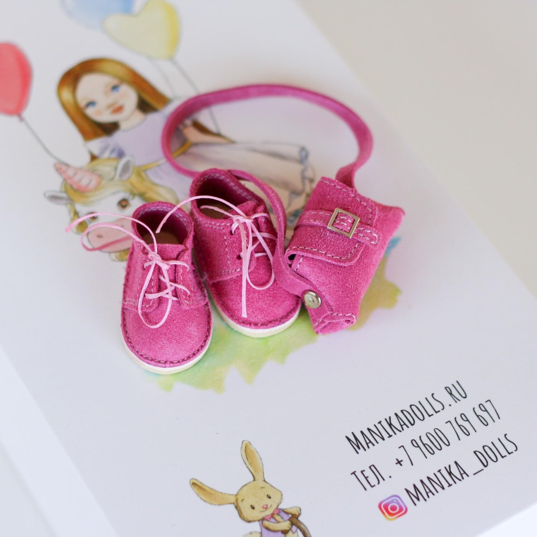 Ботинки и сумка для кукол Paola Reina (фуксия)