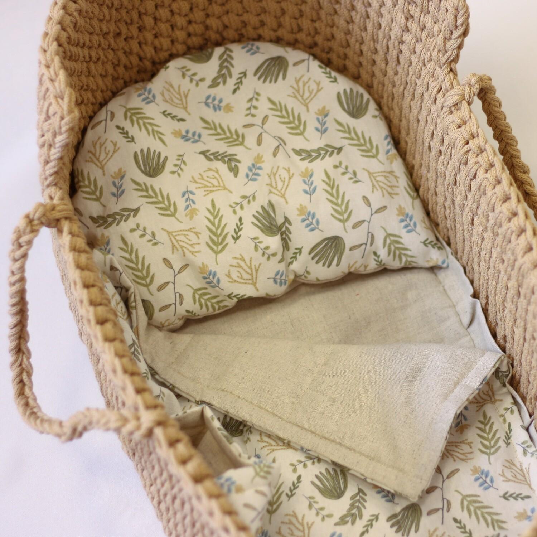 Люлька-переноска с постельным бельем для кукол 50 см