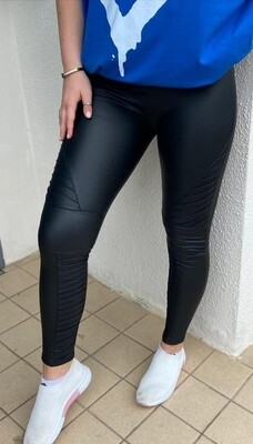 Biker Style Vegan Leather Leggings