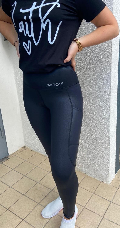 Black Shine AvaRose Leggings
