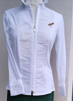 White Cotton Zip Shirt