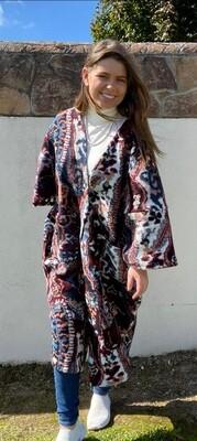 Pattern Blanket Coat
