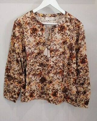Leaves Pattern Blouse