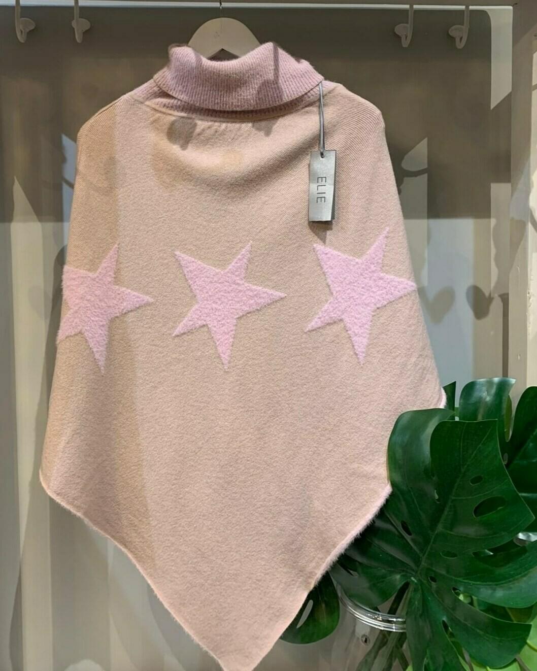 Pink Star Poncho