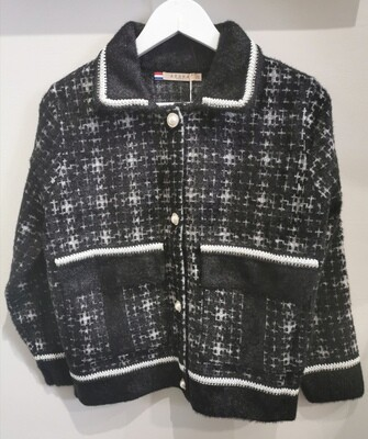 Knit Check Jacket