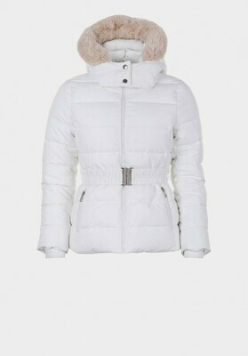 Padded Jacket with Fun Fur Lined Hood