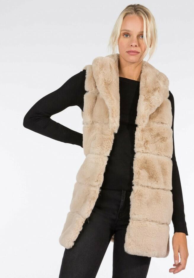 Sleeveless Fun Fur Gilet
