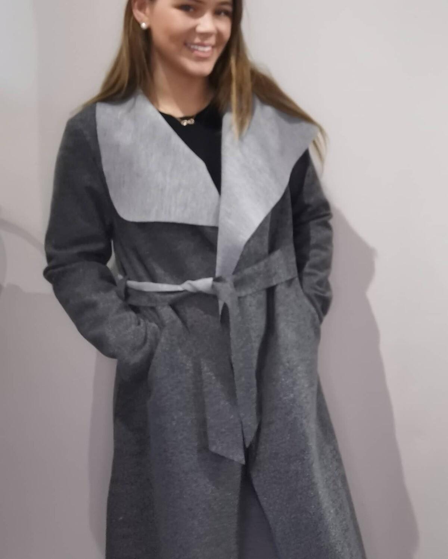 Dark Grey Felt Coat