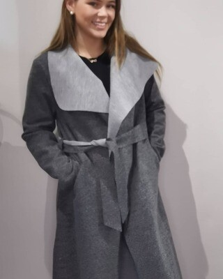 Dark Grey Felt Coat