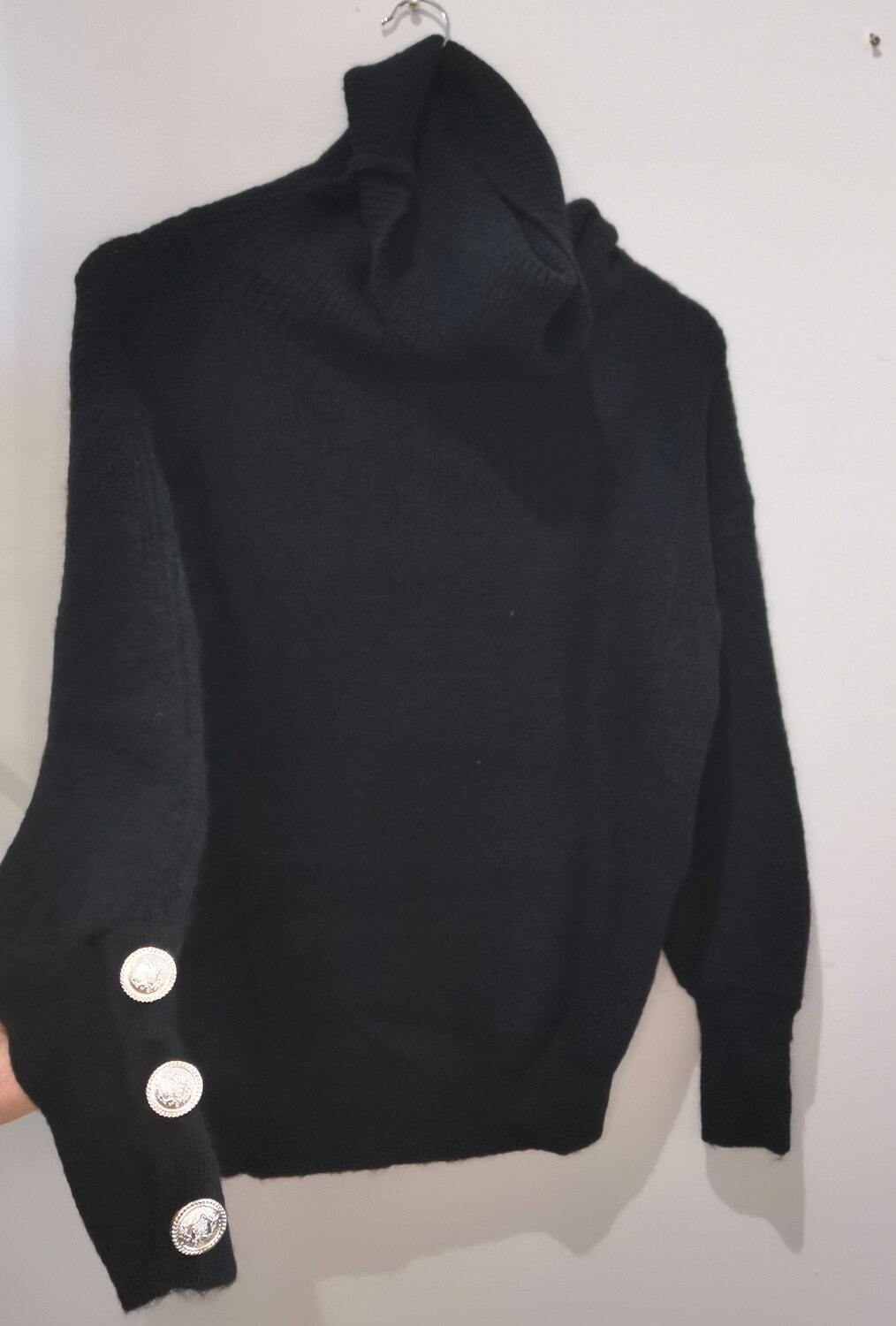 Soft Knit Roll Neck Polo
