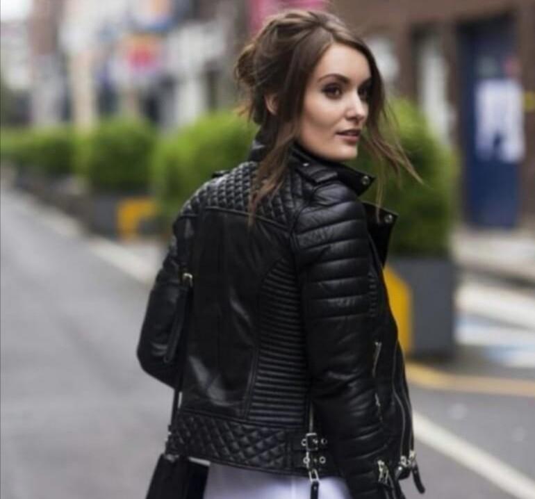 Lola Genuine Black Leather Jacket