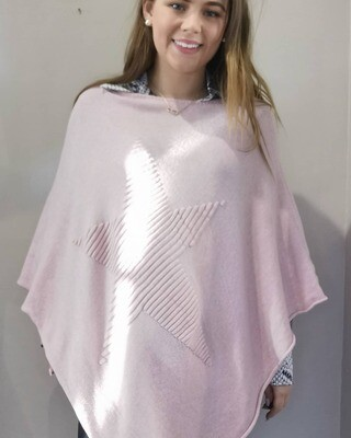 Star Soft Knit Poncho