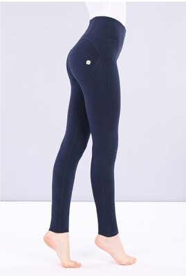 Freddy High Waist Navy Cotton Pants