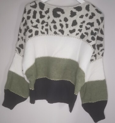 Animal Print Soft Knit Top