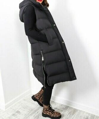 Suzie Sleeveless Padded Jacket with Hood