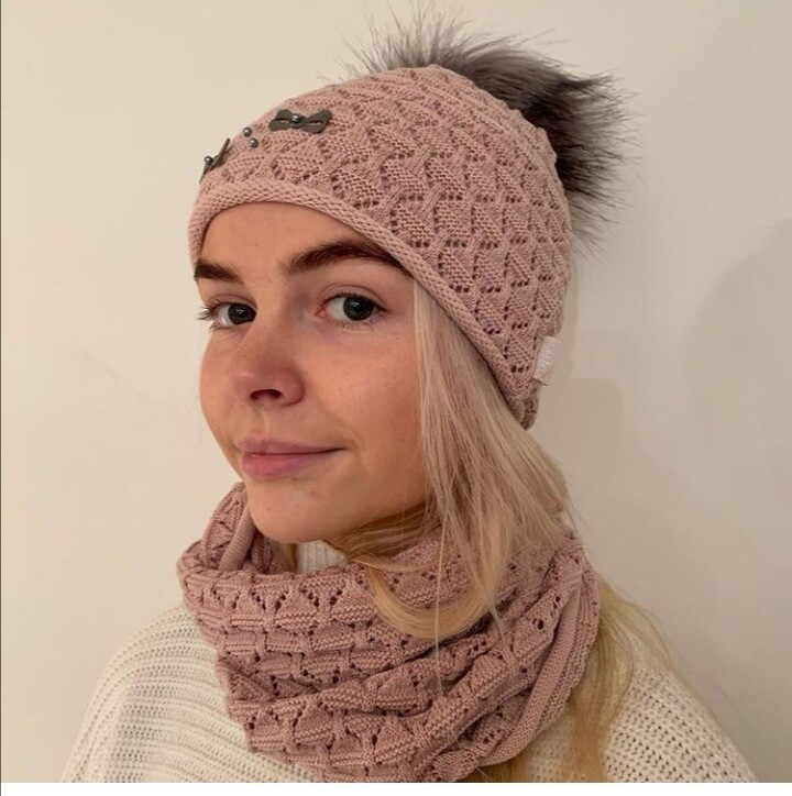Bobble Hat and Snood Set