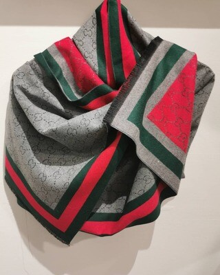 Red Pattern Cashmere Scarf