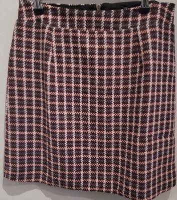 Burgandy Check Skirt