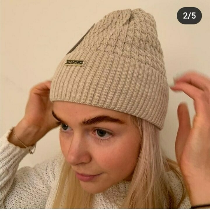Oatmeal Fleece Lined Hat