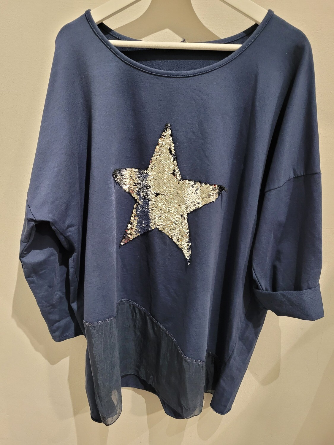 Cotton Oversized Star Top